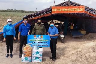 Thăm các chốt chặn phòng chống dịch covid-19 trên địa bàn huyện