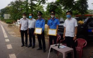 Sở GTVT: Thăm, động viên các chốt thanh tra giao thông làm nhiệm vụ phòng chống dịch