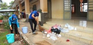 Tân Biên: Vệ sinh, khử khuẩn khu vực vừa hoàn thành cách ly