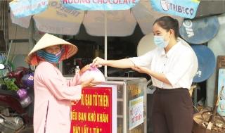 Tủ gạo từ thiện của Hội Nông dân thị trấn Dương Minh Châu