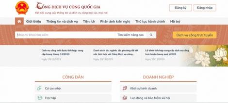 Triển khai trên Cổng dịch vụ công quốc gia dịch vụ chứng thực bản sao điện tử từ bản chính