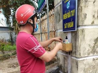 Hội LHPN xã Hưng Thuận: Lắp đặt 9 điểm rửa tay phòng chống dịch Covid-19