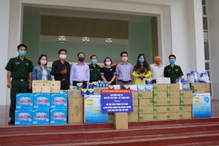 BĐBP Tây Ninh: Tiếp nhận vật chất ủng hộ công tác phòng chống dịch Covid-19