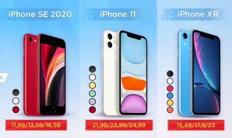 So sánh iPhone SE 2020 với iPhone XR và 11
