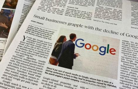 Google miễn phí quảng cáo đối với các ấn phẩm báo chí gốc trong 5 tháng