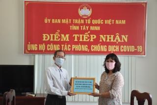 Hội Cựu giáo chức Tây Ninh ủng hộ phòng, chống dịch Covid-19