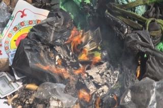 Tân Biên: Tiêu hủy tang vật vi phạm pháp luật và vi phạm hành chính