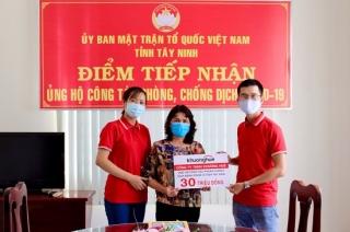 Công ty TNHH Khương Huê ủng hộ tiền, vật chất phòng chống dịch Covid-19