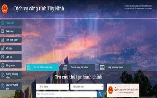 Tây Ninh được chọn thực hiện thí điểm thanh toán trực tuyến trên Cổng Dịch vụ công Quốc gia