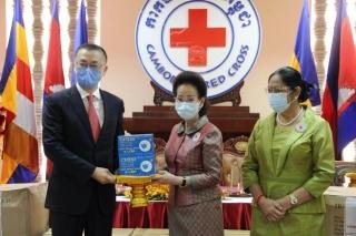 Hội Chữ thập đỏ Việt Nam hỗ trợ Campuchia chống dịch Covid-19