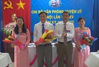 Đại hội Chi bộ Văn phòng Huyện ủy Tân Biên, nhiệm kỳ 2020 - 2025