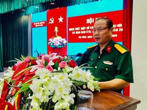 Bộ CHQS Tây Ninh triển khai nhiệm vụ công tác Đảng, công tác chính trị