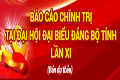 Dự thảo Văn kiện trình Đại hội đại biểu Đảng bộ tỉnh Tây Ninh lần thứ XI, nhiệm kỳ 2020 - 2025