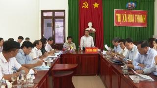 Ban Kinh tế ngân sách HĐND tỉnh khảo sát công tác quản lý quy hoạch tại thị xã Hòa Thành