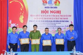 Huyện đoàn Tân Châu triển khai chuyên đề Hồ Chí Minh và tổng kết Tháng Thanh niên năm 2020