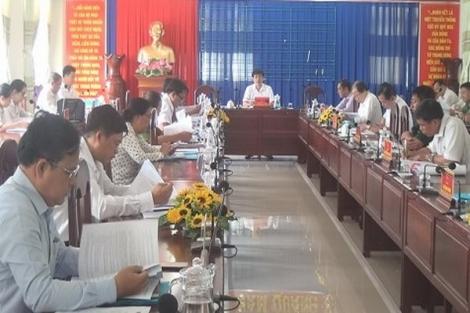 Tân Biên: Hội nghị đột xuất chuẩn bị cho Đại hội đại biểu Đảng bộ huyện lần thứ XII (nhiệm kỳ 2020-2025)