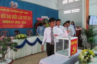 Đảng bộ phường Hiệp Ninh, TP.Tây Ninh Đại hội đại biểu lần thứ XIV nhiệm kỳ 2020-2025