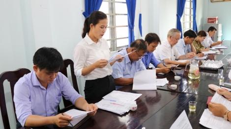 Gò Dầu giám sát tình hình hoạt động của Hội đồng nhân dân các xã