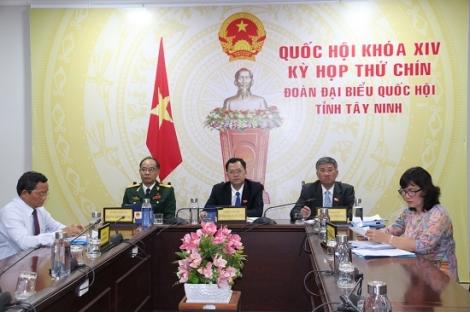ĐBQH Tây Ninh dự phiên khai mạc kỳ họp thứ 9 Quốc hội khoá XIV bằng hình thức trực tuyến