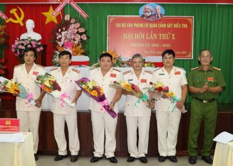 Chi bộ Văn phòng Cảnh sát điều tra, Phòng Hồ sơ Công an tỉnh tổ chức Đại hội nhiệm kỳ 2020-2025