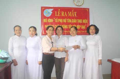 Trường Đông: Ra mắt mô hình Tổ phụ nữ tôn giáo thực hiện phương châm sống tốt đời, đẹp đạo