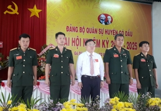 Đại hội Đảng bộ Quân sự huyện Gò Dầu nhiệm kỳ 2020-2025
