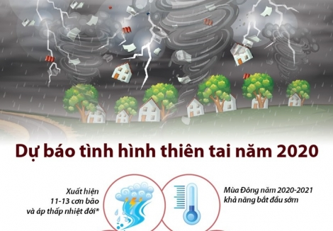 [Infographics] Dự báo tình hình thiên tai tại Việt Nam năm 2020