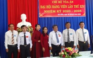 Chi bộ Tòa án nhân dân huyện Gò Dầu đại hội lần thứ XIV, nhiệm kỳ 2020- 2025