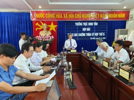 Họp thông báo chương trình Kỳ họp thứ 15 HĐND tỉnh, nhiệm kỳ 2016 - 2021