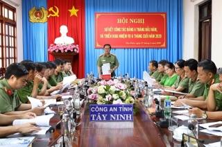Đảng ủy CA tỉnh sơ kết công tác Đảng 6 tháng đầu năm