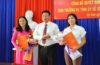 Bổ nhiệm bà Trần Thị Mỹ Linh giữ chức Tổng Biên tập Báo Tây Ninh