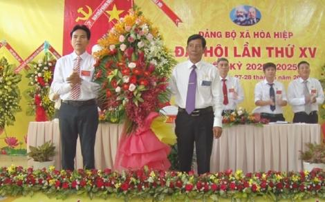 Bế mạc Đại hội Đảng bộ xã Hòa Hiệp