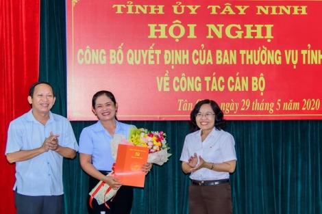 Bổ nhiệm bà Trần Thị Thanh Hằng giữ chức vụ Phó Trưởng ban Tổ chức Tỉnh uỷ