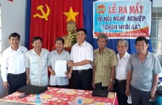Ra mắt Tổ nghề nghiệp Chăn nuôi gà mía xã Trường Đông