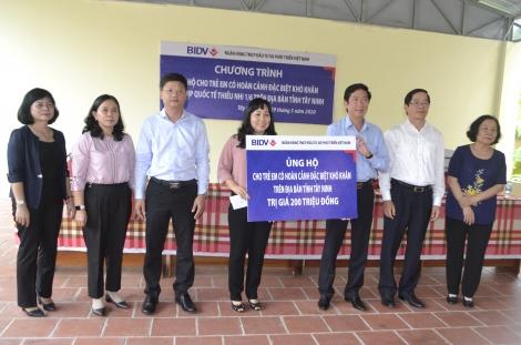 BIDV Tây Ninh: Hỗ trợ chi phí hoạt động thường xuyên cho 4 đơn vị đang nuôi dạy trẻ có hoàn cảnh đặc biệt trên địa bàn tỉnh
