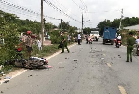 Chạy xe lấn trái tông vào xe tải, một người tử vong