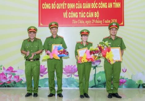 CA Tân Châu: Công bố quyết định về công tác cán bộ