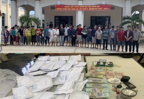 Bắt 56 người tham gia điểm lắc tài xỉu ở Gò Dầu