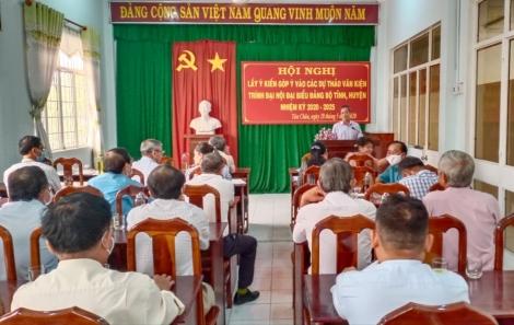 Tân Châu: Lấy ý kiến góp ý các dự thảo văn kiện Đại hội Đảng bộ tỉnh, huyện nhiệm kỳ 2020 - 2025.