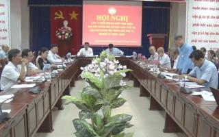 Huyện Dương Minh Châu: Lấy ý kiến đóng góp văn kiện trình Đại hội Đảng các cấp