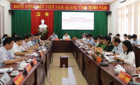 Chủ tịch UBND tỉnh làm việc tại thị xã Hoà Thành