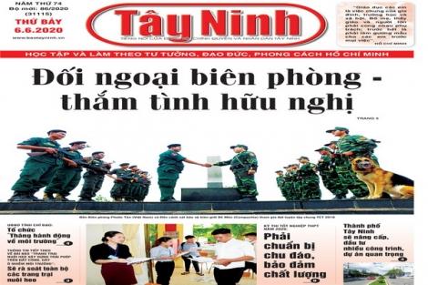 Điểm báo in Tây Ninh ngày 06.6.2020