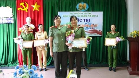 """Hội Phụ nữ CA Tây Ninh: Tổ chức cuộc thi """"Tái chế rác thải nhựa, phế liệu"""""""