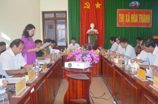 UBND thị xã Hòa Thành họp phiên mở rộng tháng 6-2020
