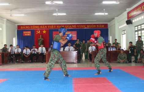 Hội thao võ chiến đấu tay không trong LLVT Tây Ninh