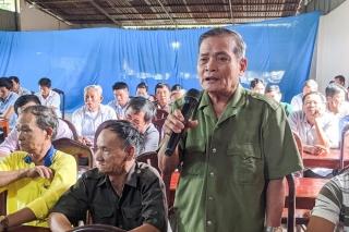 Đại biểu HĐND tỉnh, thị xã tiếp xúc cử tri xã Hưng Thuận