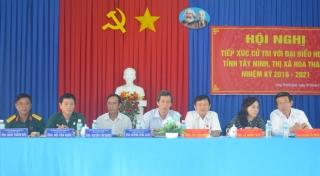 Đại biểu HĐND tỉnh, huyện tiếp xúc cử tri xã Long Thành Nam, thị xã Hoà Thành