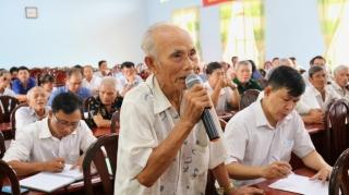 Gò Dầu tiếp xúc cử tri Hội đồng nhân dân tỉnh và huyện tại xã Cẩm Giang