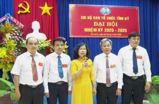 Đại hội Chi bộ Ban Tổ chức Tỉnh uỷ, nhiệm kỳ 2020 - 2025
