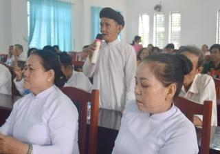 Đại biểu HĐND tỉnh tiếp xúc cử tri phường Long Thành Bắc, thị xã Hòa Thành